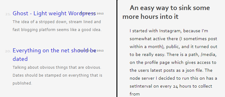 A screen shot of my two title related css bugs